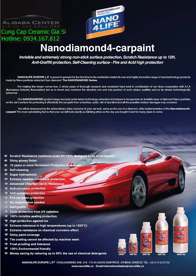 Nano Diamond4 Car paint 12H