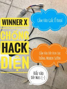 Lắp Mạch Chống Hack Điện Trộm Xe Honda Winner X